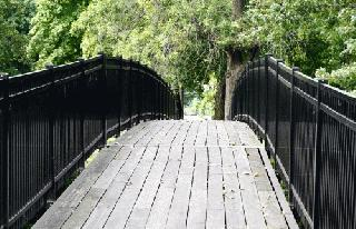 Walking Bridge leading to Weston Cemetery from Bicentennial Park